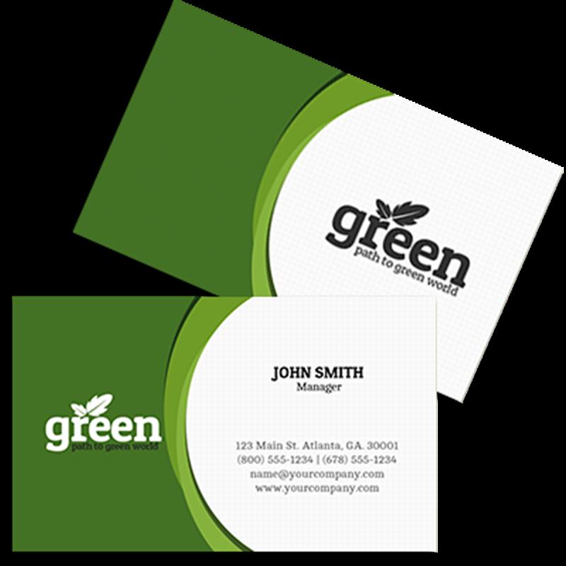 Business cardsbannerscanvas printsprintsouthmedia going green colourmoves